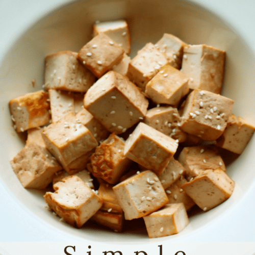 A perfect serving of roasted tofu