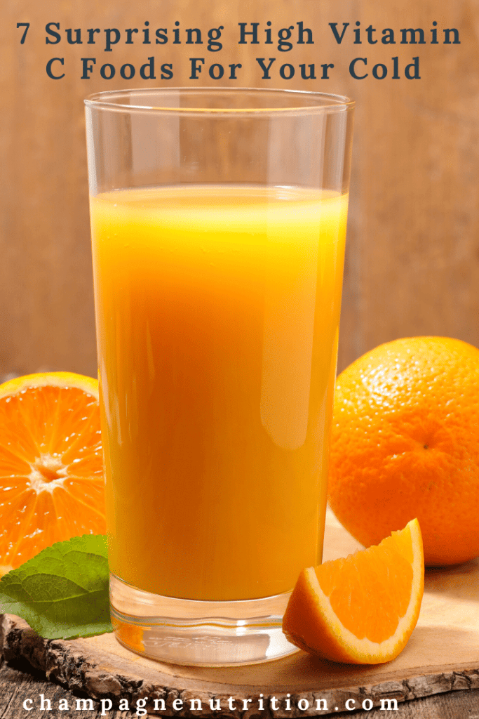 7 Surprising High Vitamin C Foods For Your Cold