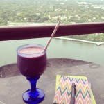 Mango-blackberry Peanut-butter Smoothie by Allison Stevens of Prep Dish: Personal Chef