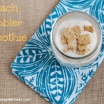 Peach Cobbler Smoothie by Dietitian Lindsay L in Ohio