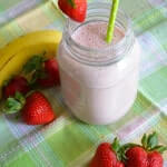 Strawberry Banana Smoothie by Jennifer Pullman of Nourished Simply in Pennsylvania