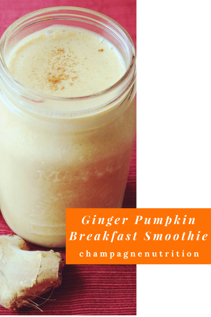 Ginger Pumpkin Breakfast Smoothie