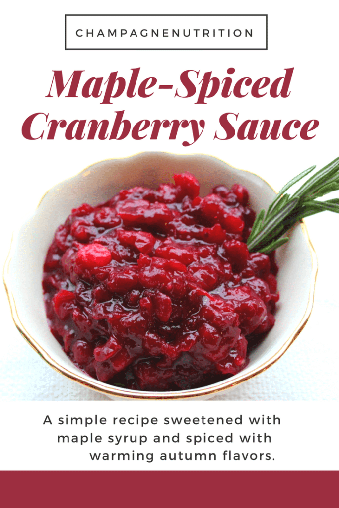Maple-Spiced Cranberry Sauce