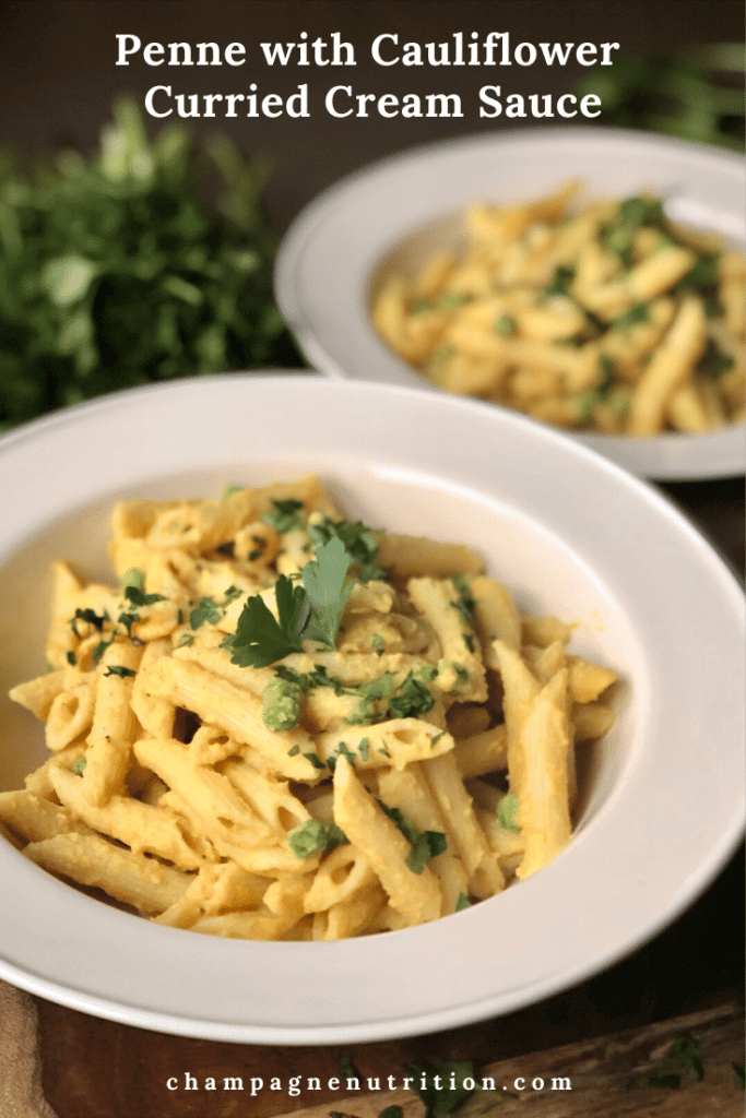 Penne with Cauliflower Curried Cream Sauce