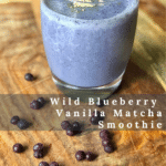A gorgeous purple and green, frosty smoothie