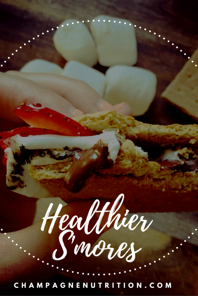 Slightly Healthier S'mores champagnenutrition.com