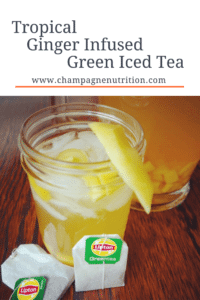 Tropical Ginger Infused Green Iced Tea