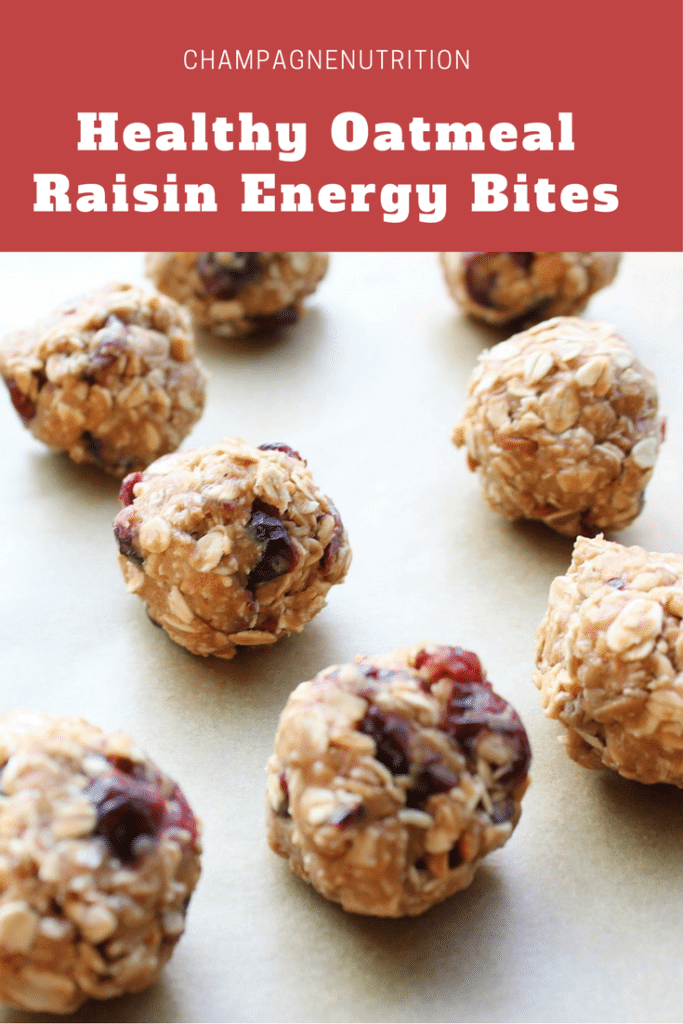 Healthy Oatmeal Raisin Energy Bites