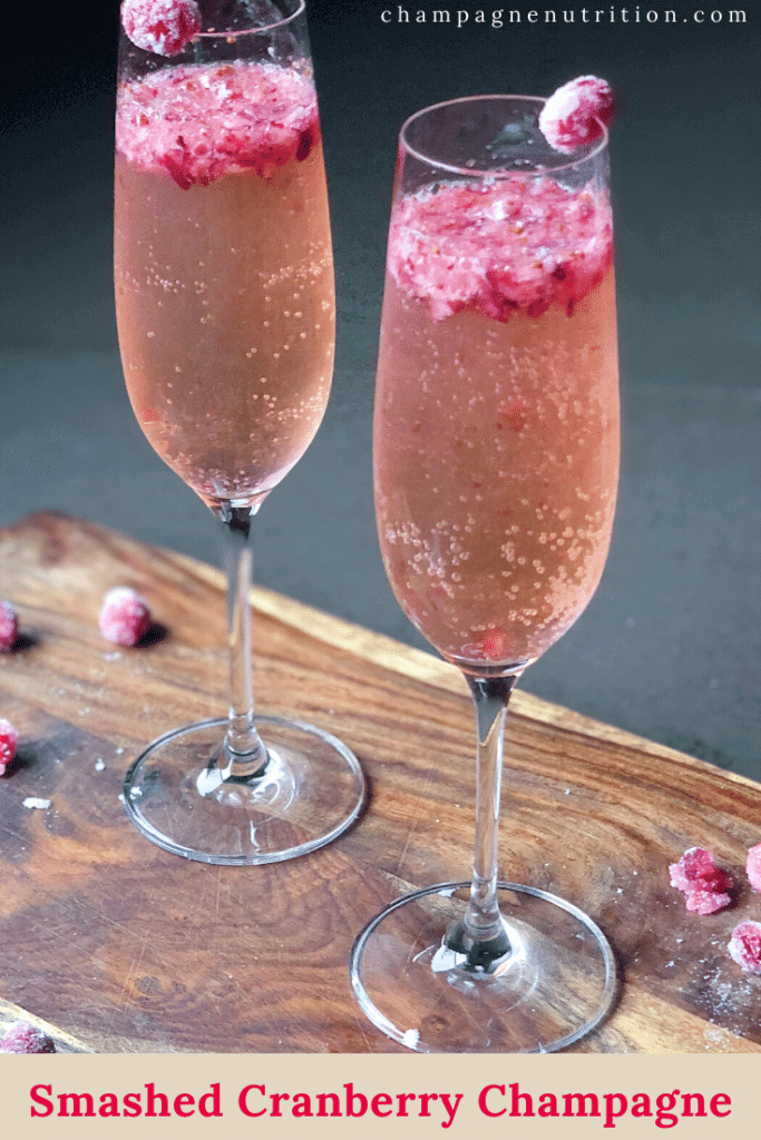 Smashed Cranberry Champagne