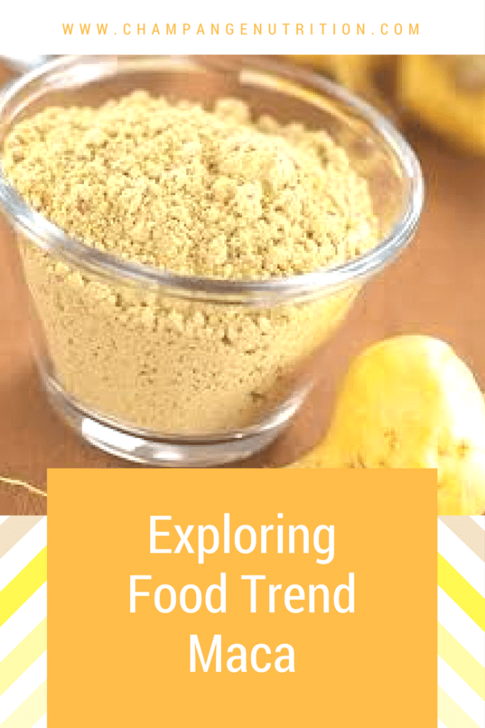 Exploring food trend Maca
