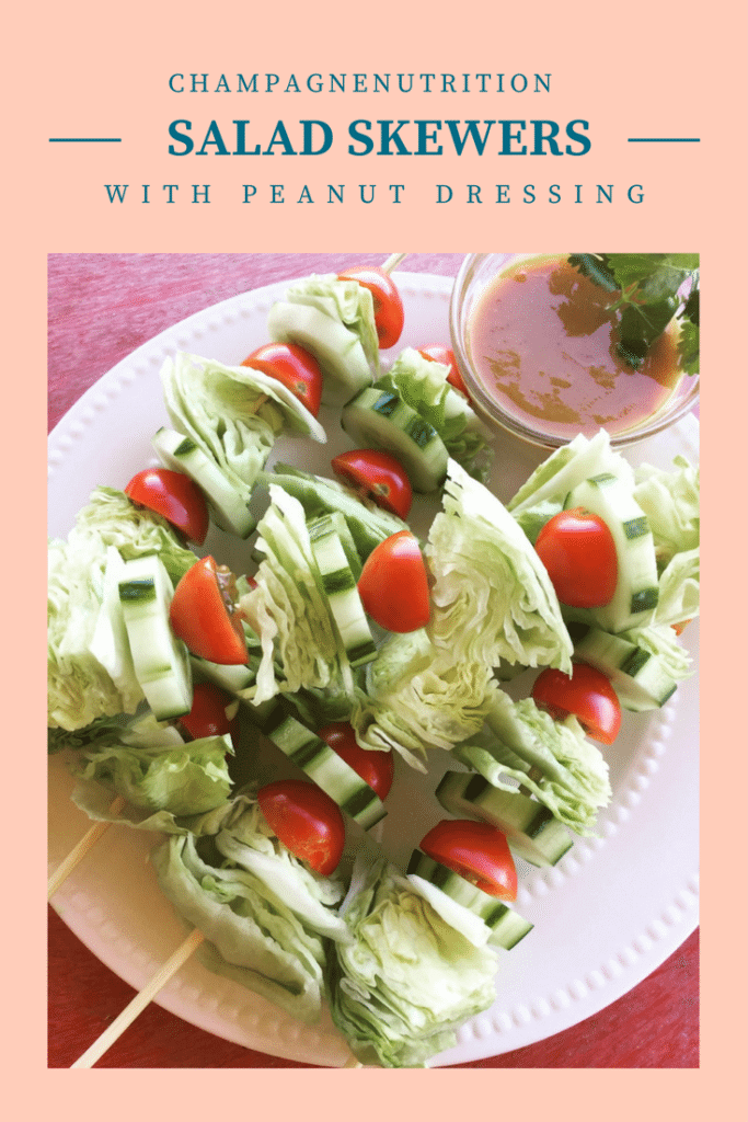 Salad Skewer with Peanut Dressing – Ginger Hultin MS, RD, CSO