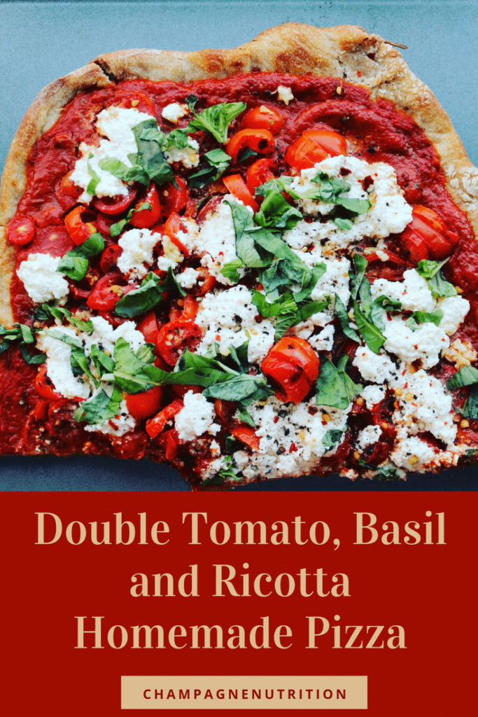 Double Tomato, Basil and Ricotta Homemade Pizza