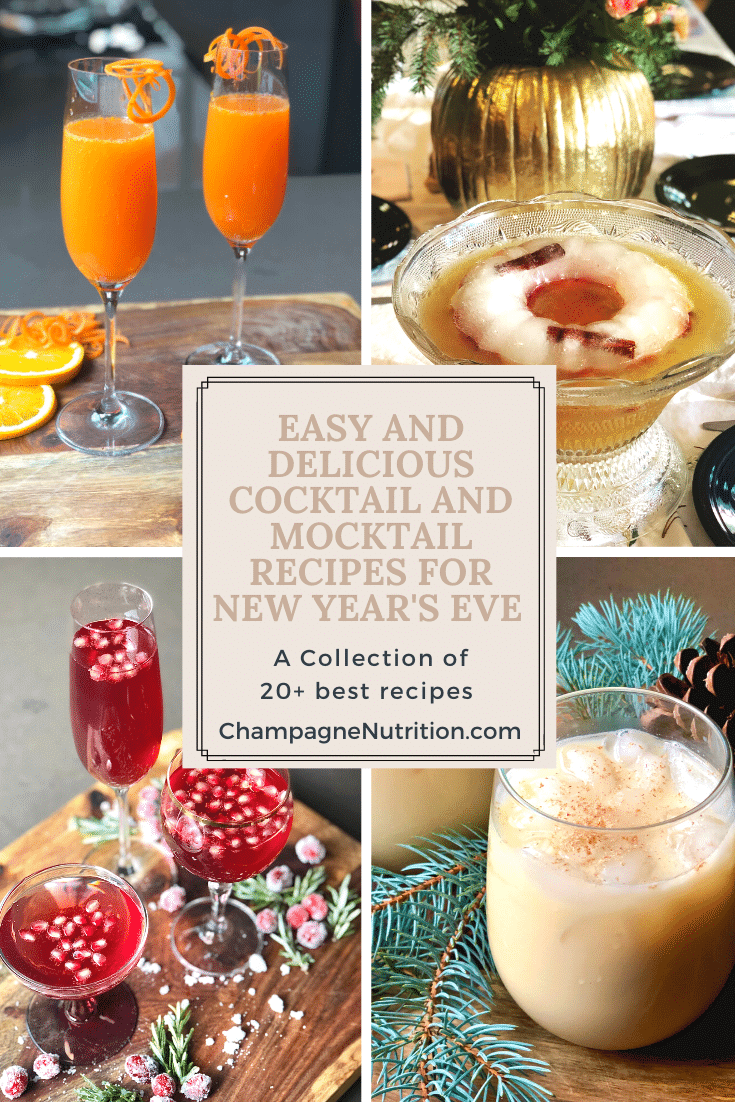 Easy and Delicious Cocktail and Mocktail Recipes for New Year's Eve