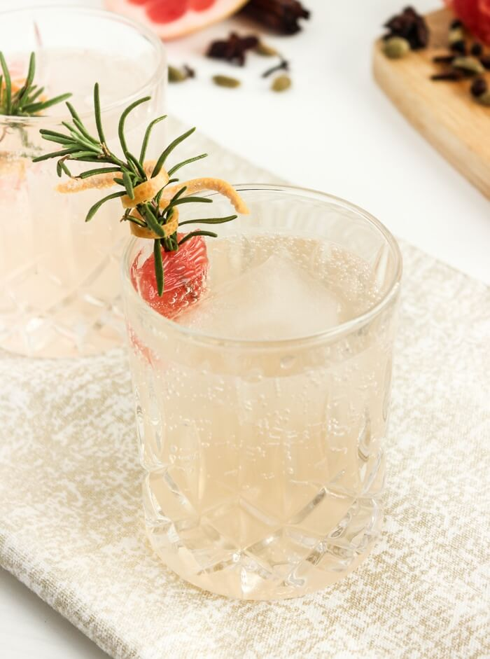 Spiced Grapefruit Gin and Tonic by Lively Table