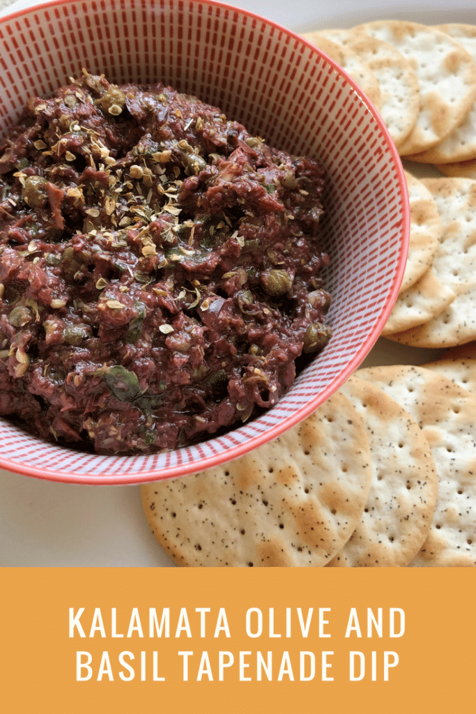 Kalamata Olive and Basil Tapenade Dip
