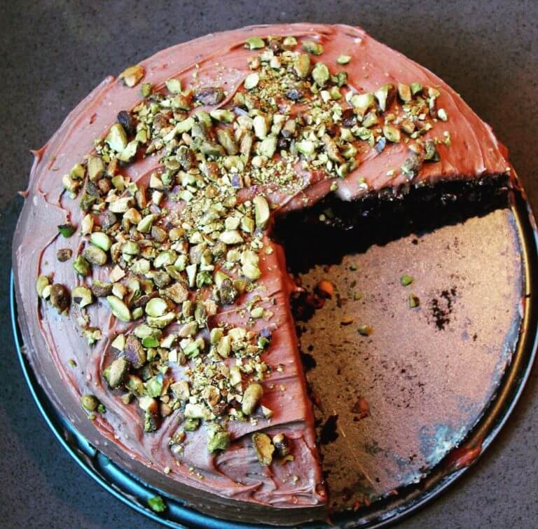 Red Wine Chocolate Cake with Cabernet Frosting
