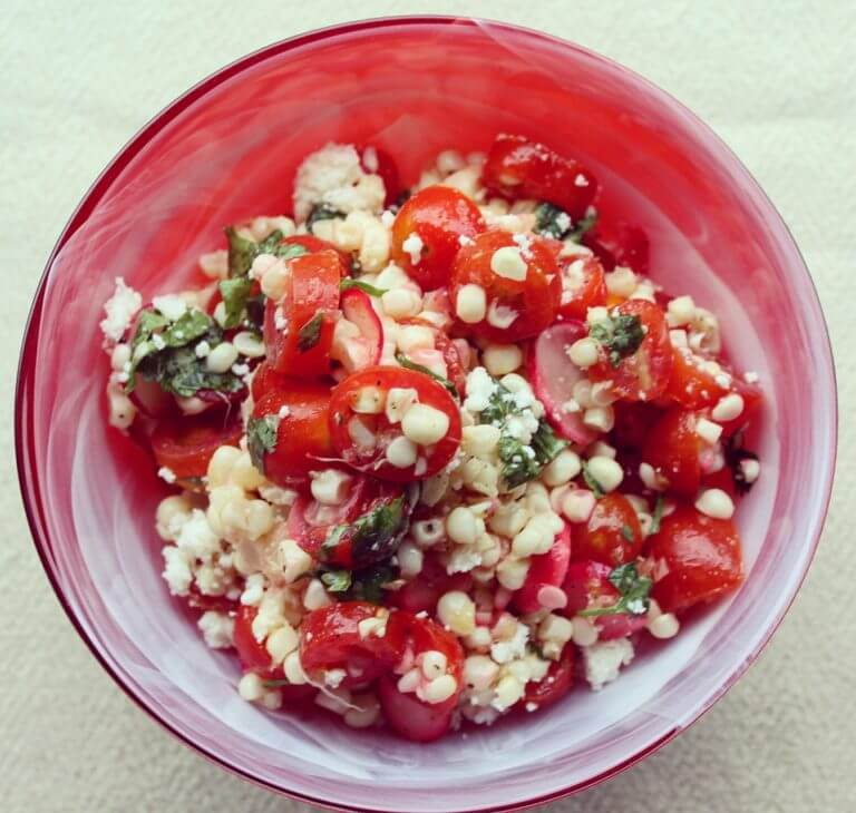 Fresh Corn Salad with Cilantro Lime Dressing