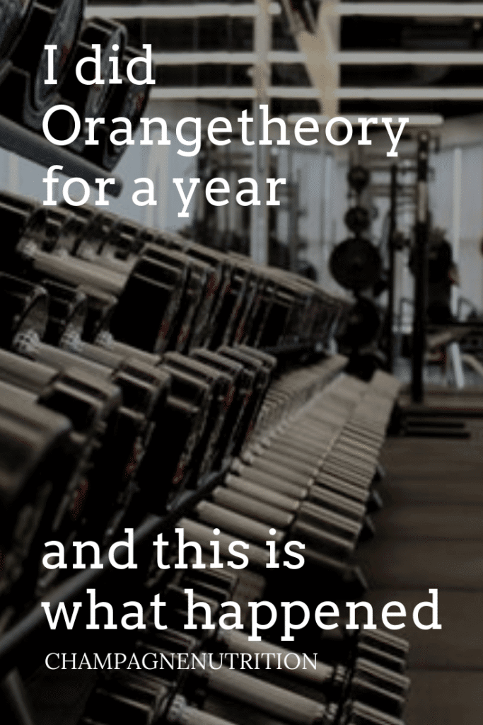 I did Orange Theory for a year and this is what happened