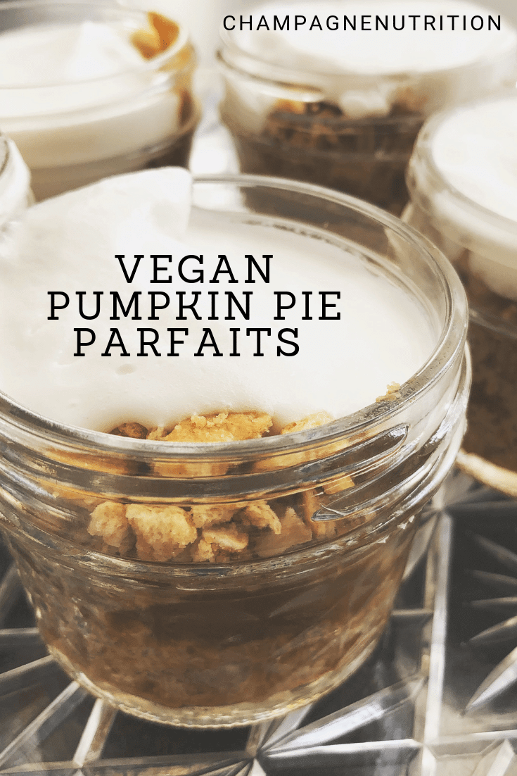 Mason Jar VEGAN PUMPKIN PIE PARFAITS