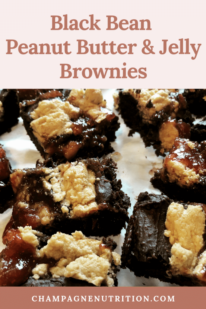 Black Bean Peanut Butter and Jelly Brownies Recipe