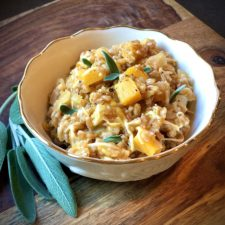 Farro Risotto with Butternut Squash and Sage
